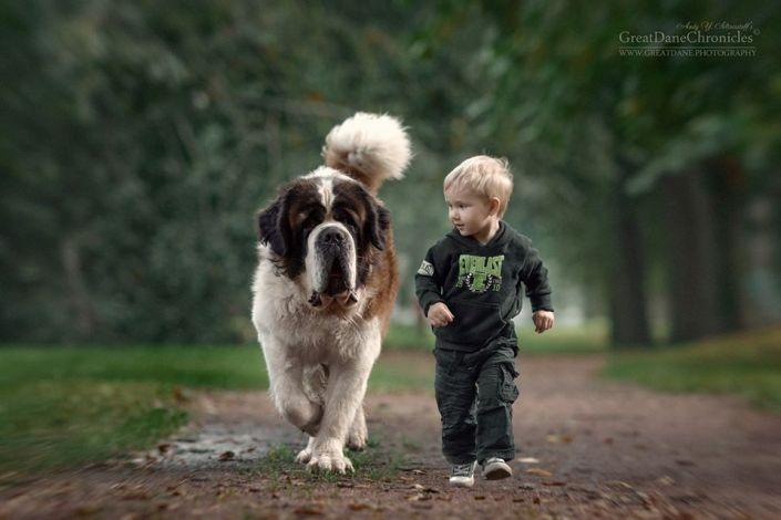фото детей с собаками