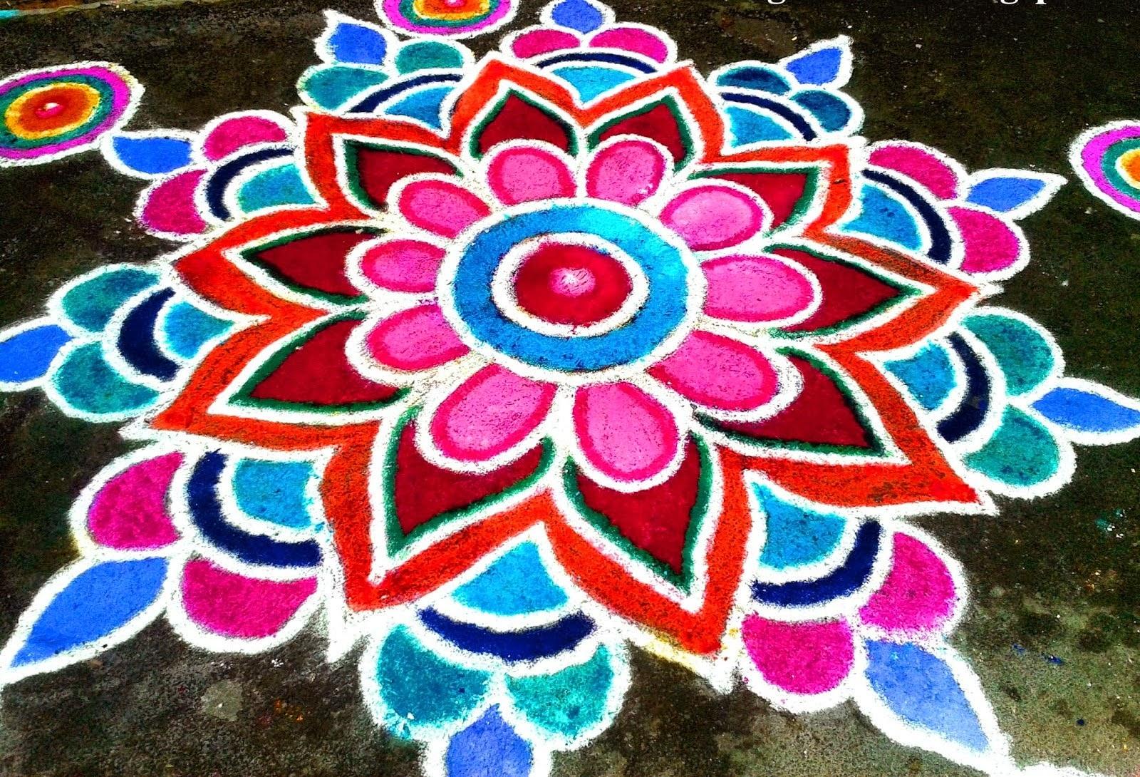 Simple Diwali Rangoli Designs 5 Easytomake Colorful